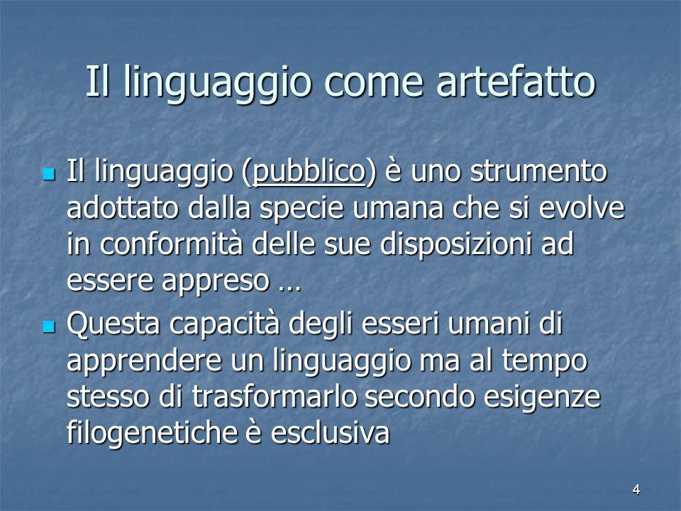 Il linguaggio come artefatto