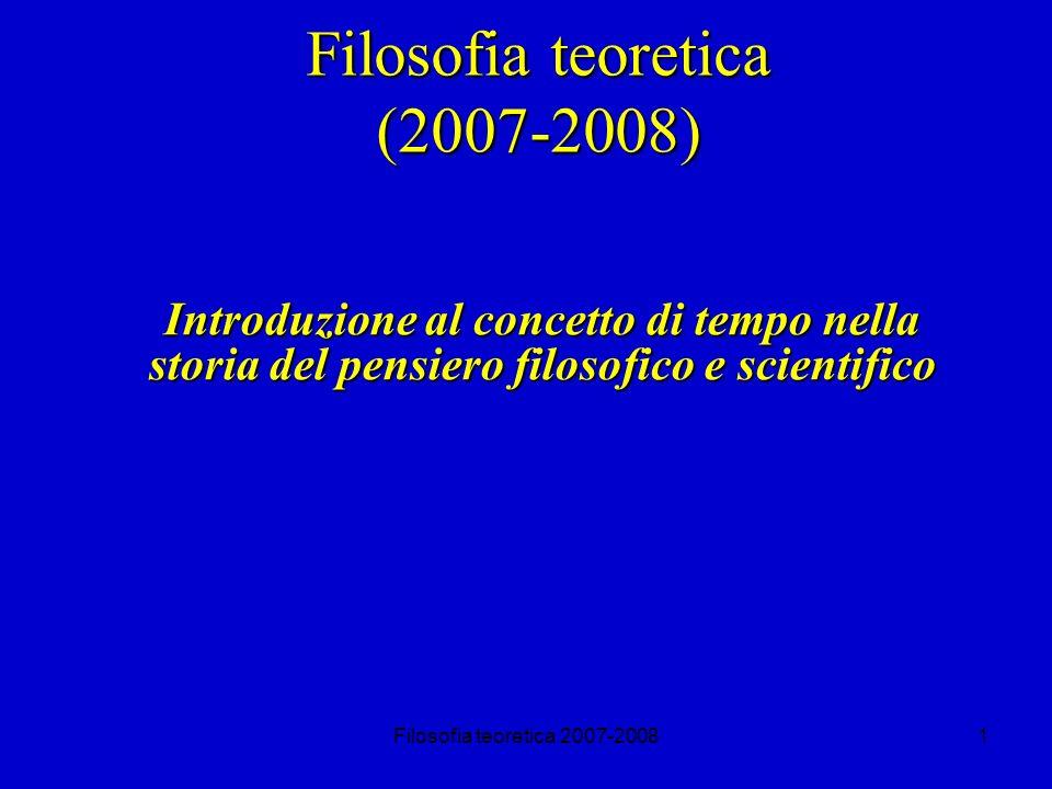 Filosofia teoretica (2007-2008)