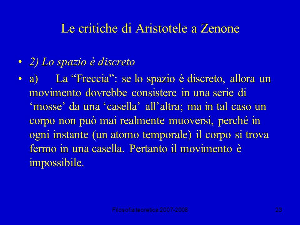Le critiche di Aristotele a Zenone