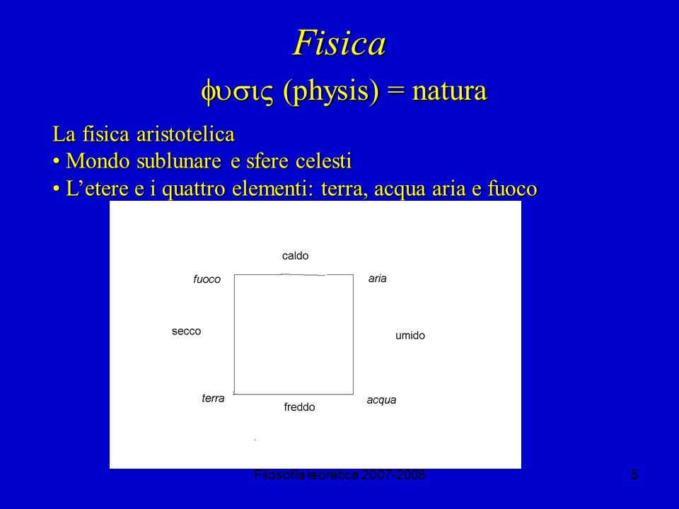 Fisica fusi (physis) = natura