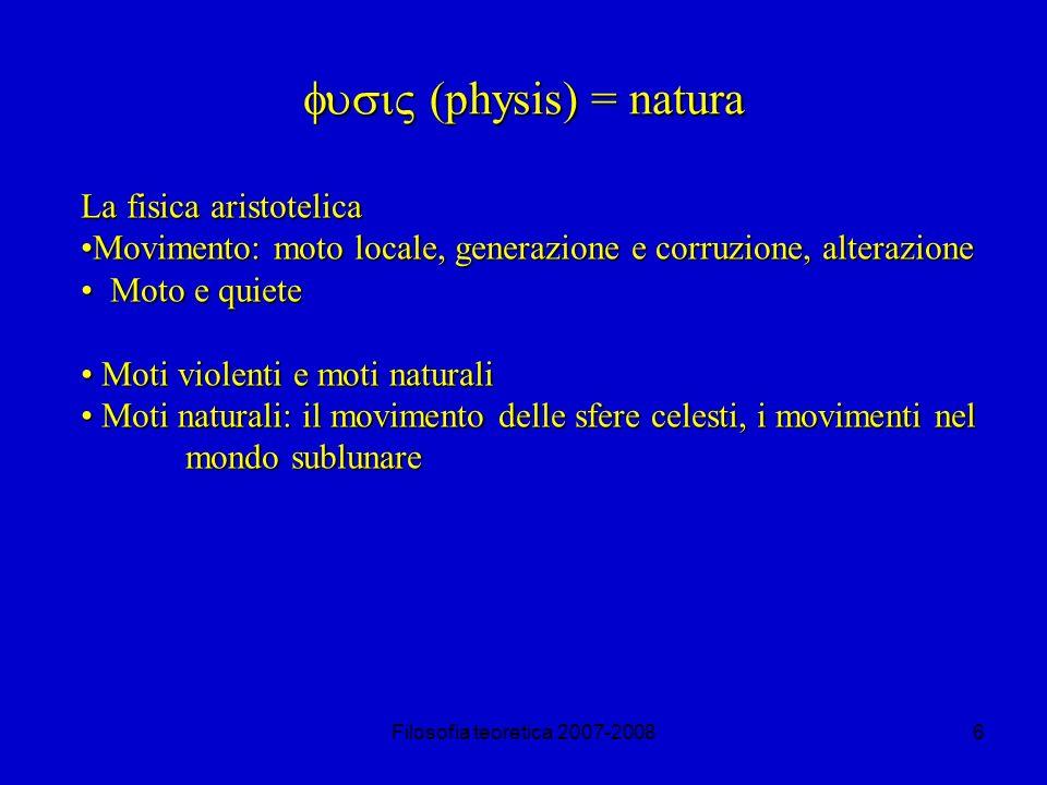 fusi (physis) = natura