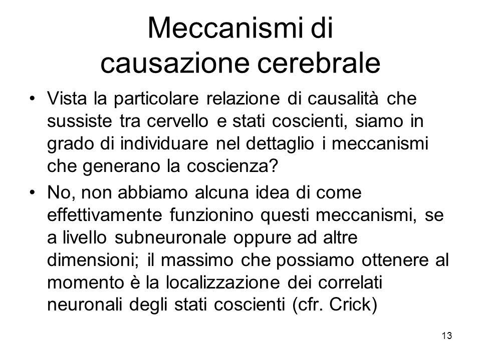 Meccanismi di causazione cerebrale