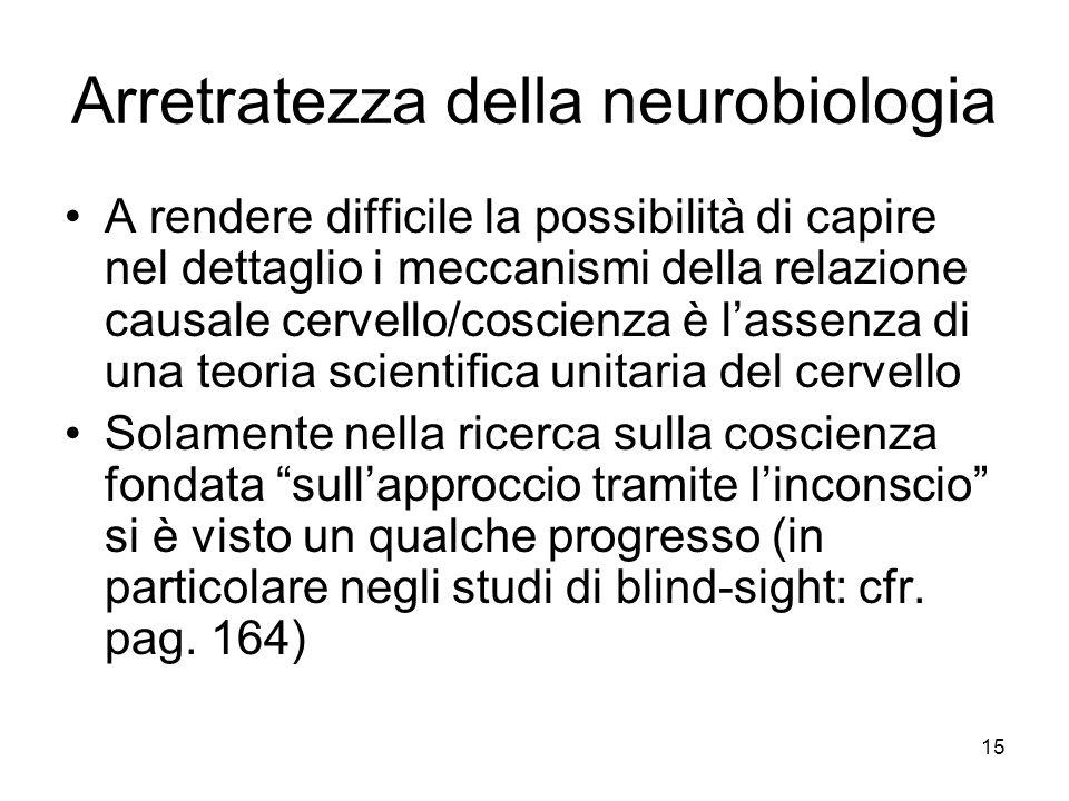 Arretratezza della neurobiologia