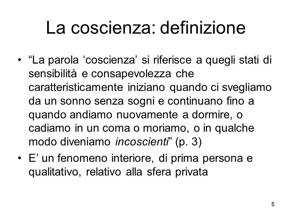 La coscienza: definizione