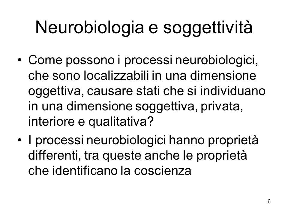 Neurobiologia e soggettività