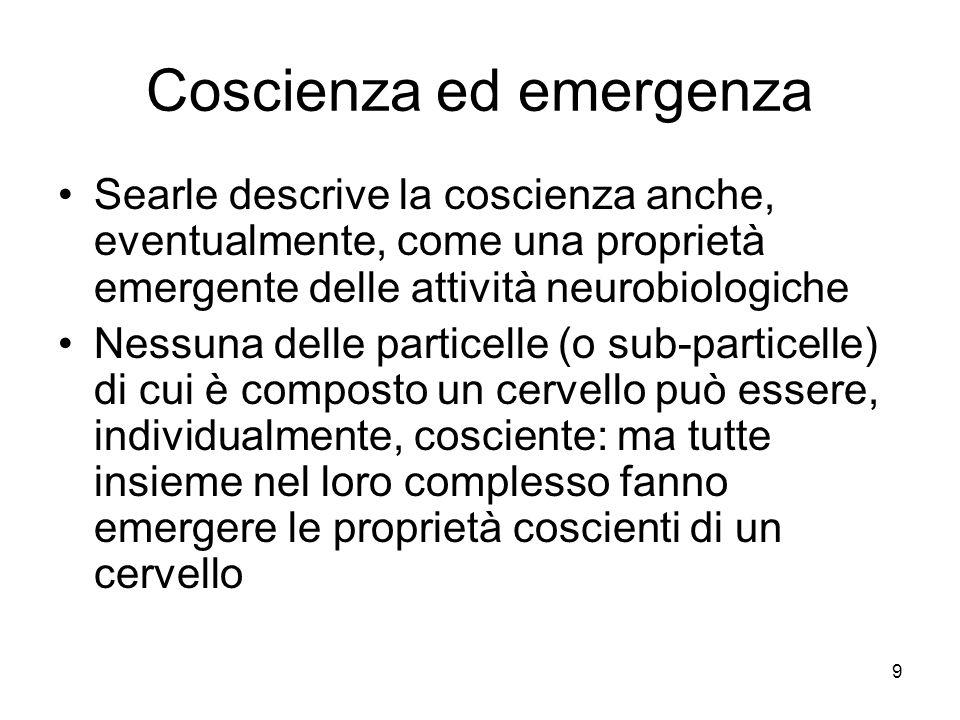 Coscienza ed emergenza