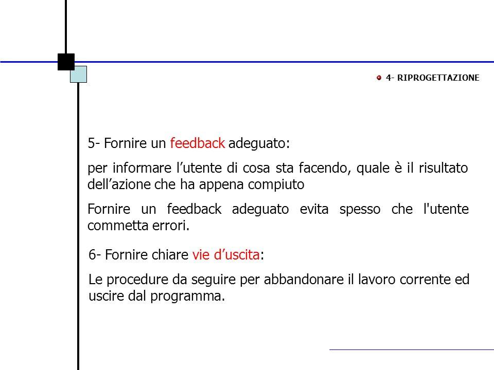 5- Fornire un feedback adeguato: