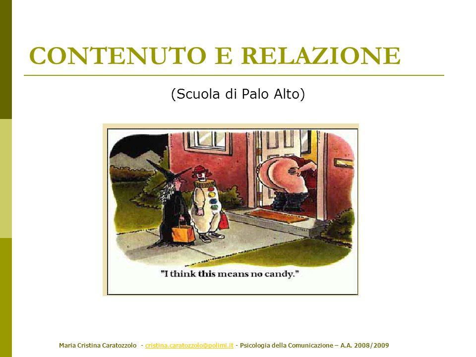 CONTENUTO E RELAZIONE (Scuola di Palo Alto)