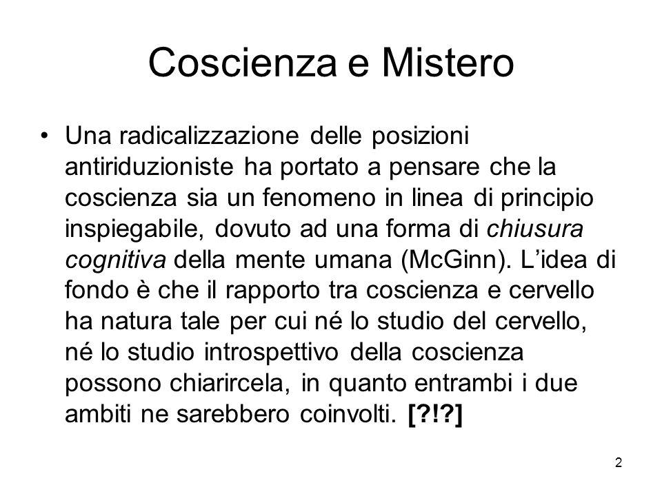 Coscienza e Mistero