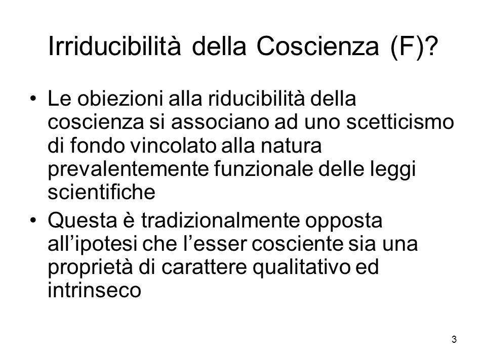 Irriducibilità della Coscienza (F)