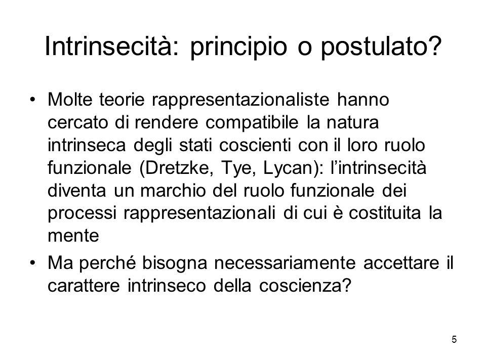 Intrinsecità: principio o postulato
