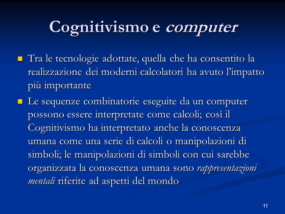 Cognitivismo e computer