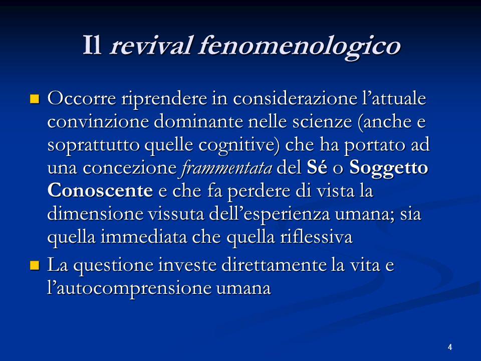 Il revival fenomenologico