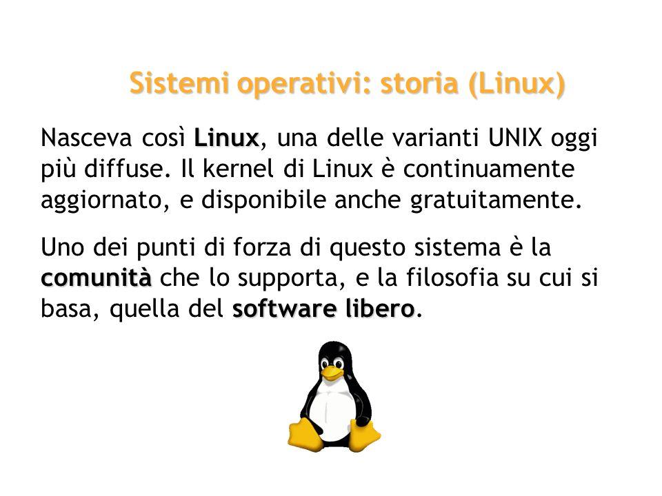 Sistemi operativi: storia (Linux)
