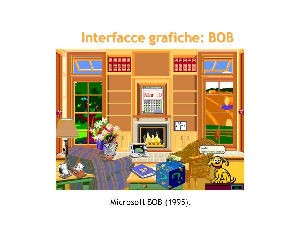 Interfacce grafiche: BOB