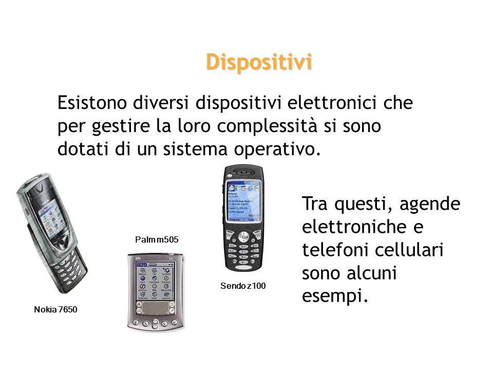 Dispositivi Esistono diversi dispositivi elettronici che per gestire la loro complessità si sono dotati di un sistema operativo.