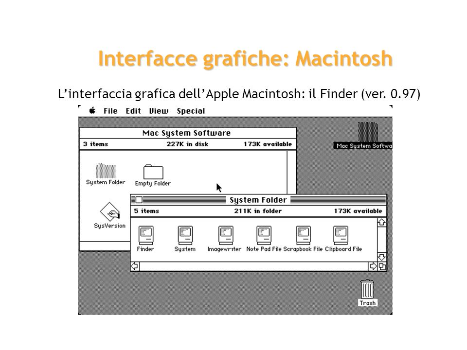 Interfacce grafiche: Macintosh