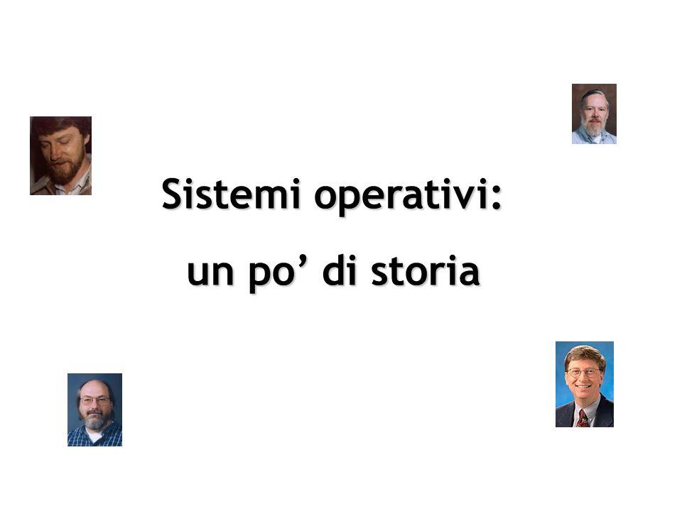 Sistemi operativi: un po' di storia