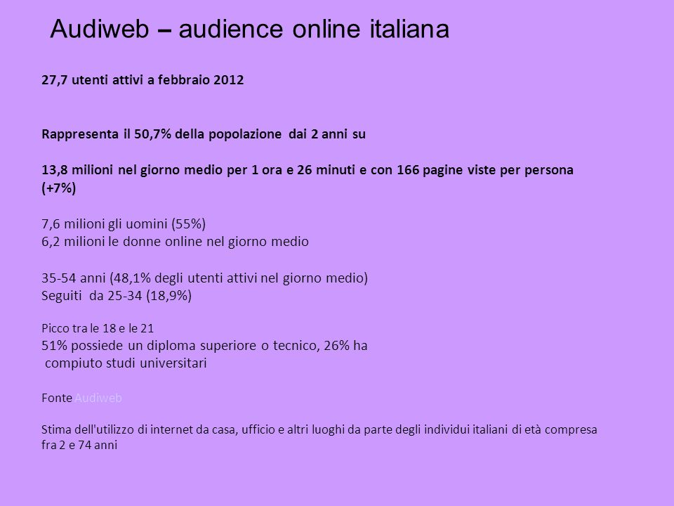 Audiweb – audience online italiana