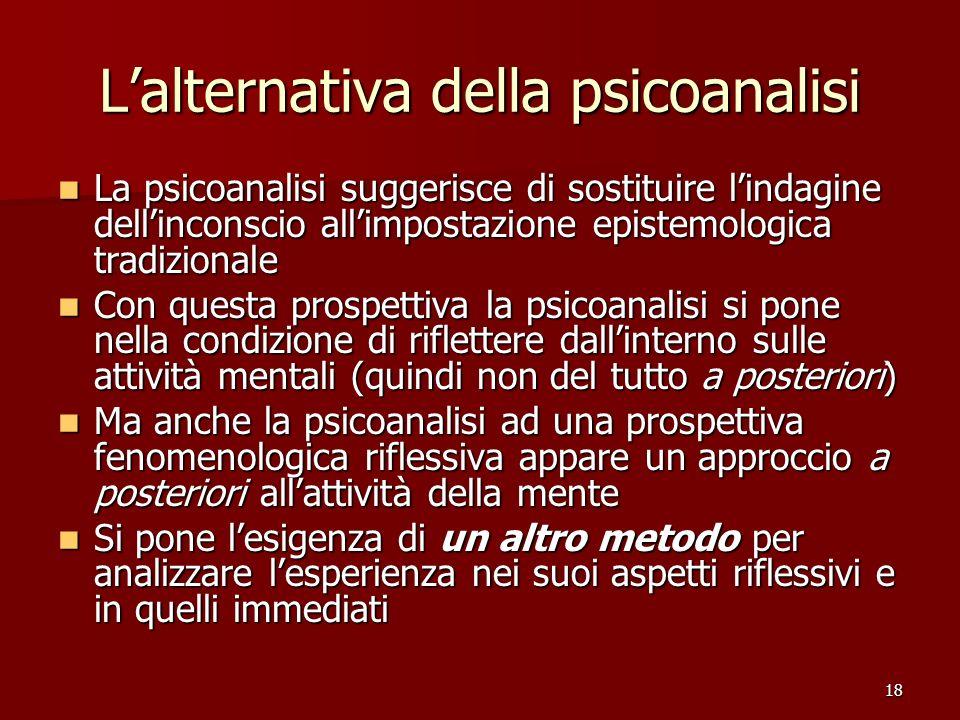 L'alternativa della psicoanalisi