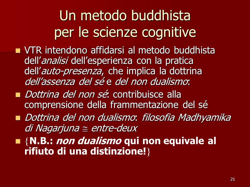 Un metodo buddhista per le scienze cognitive