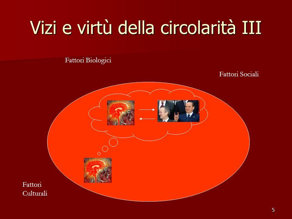 Vizi e virtù della circolarità III