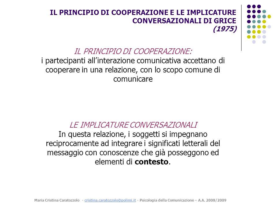 IL PRINCIPIO DI COOPERAZIONE: