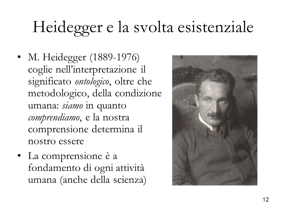Heidegger e la svolta esistenziale