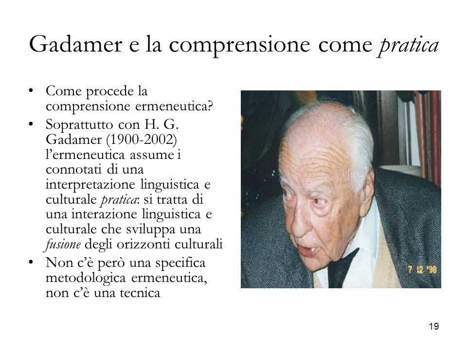 Gadamer e la comprensione come pratica
