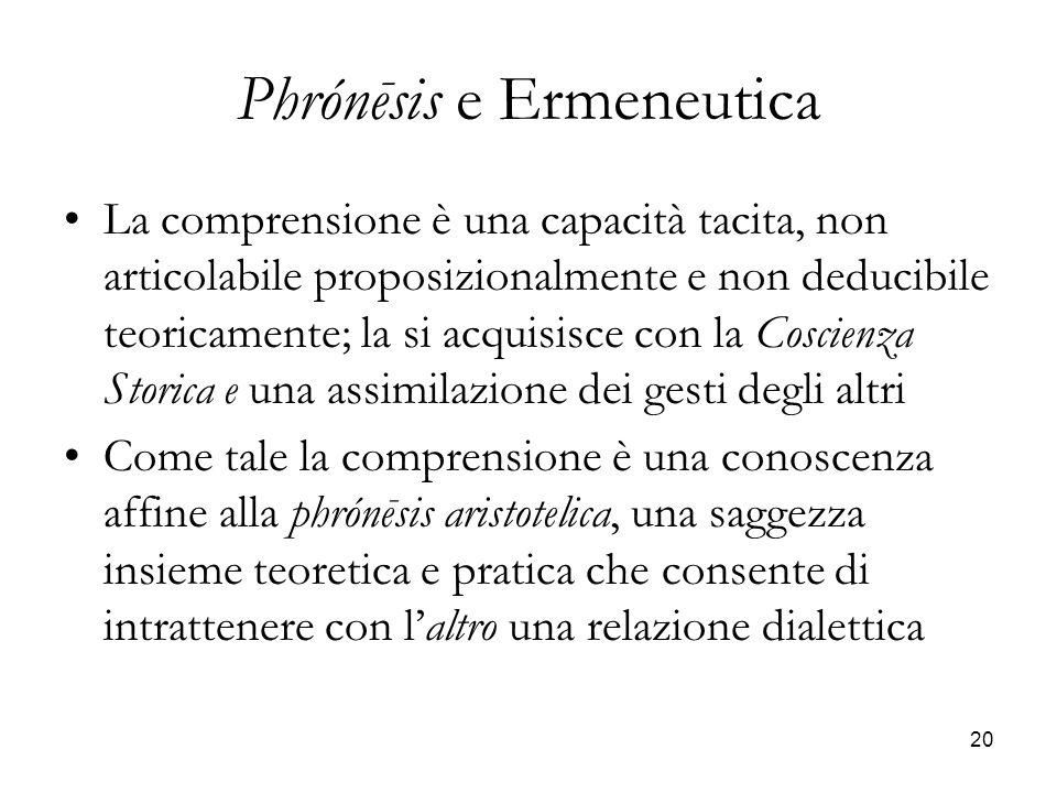 Phrónēsis e Ermeneutica