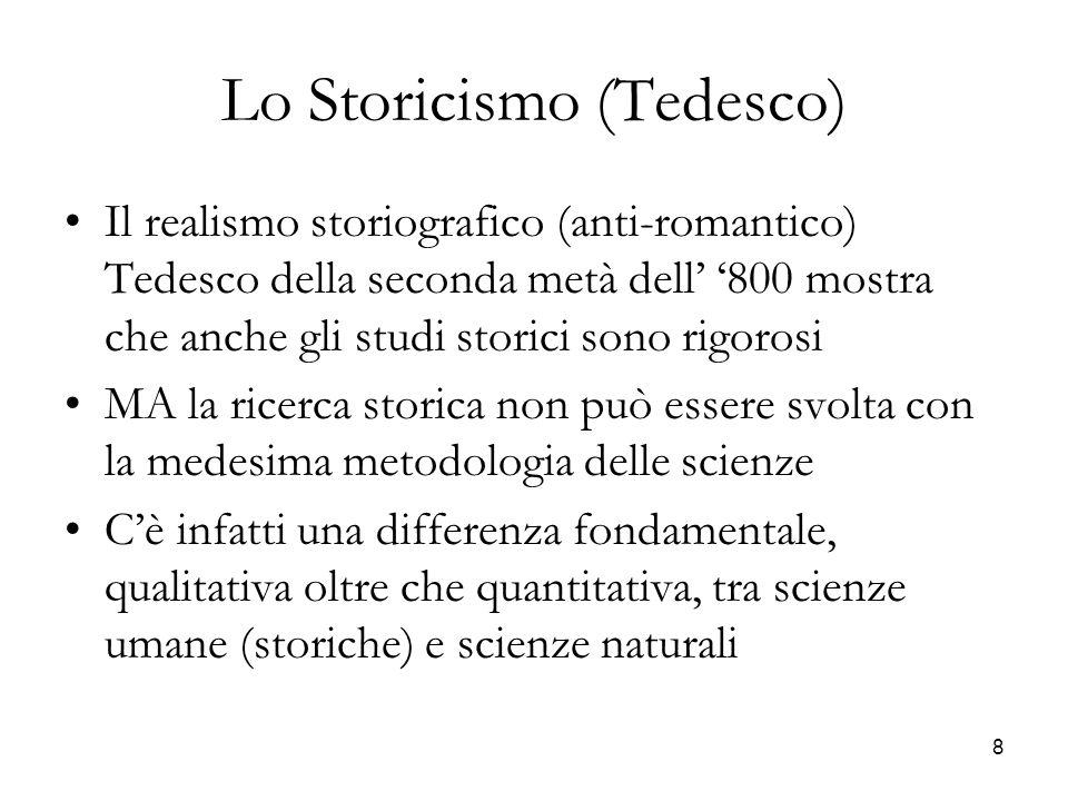 Lo Storicismo (Tedesco)