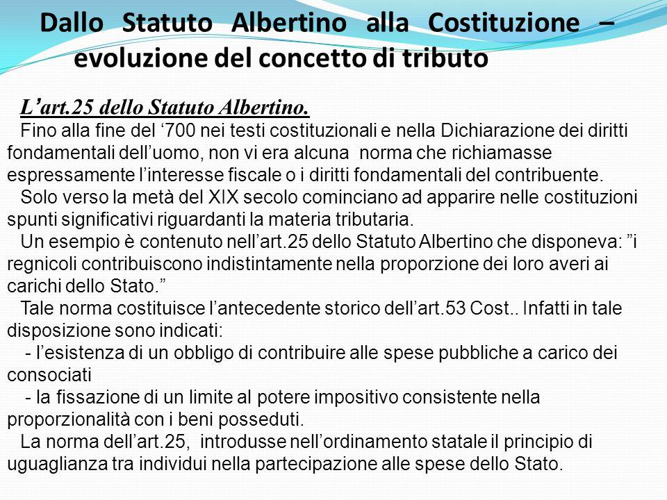 Dallo Statuto Albertino alla Costituzione –