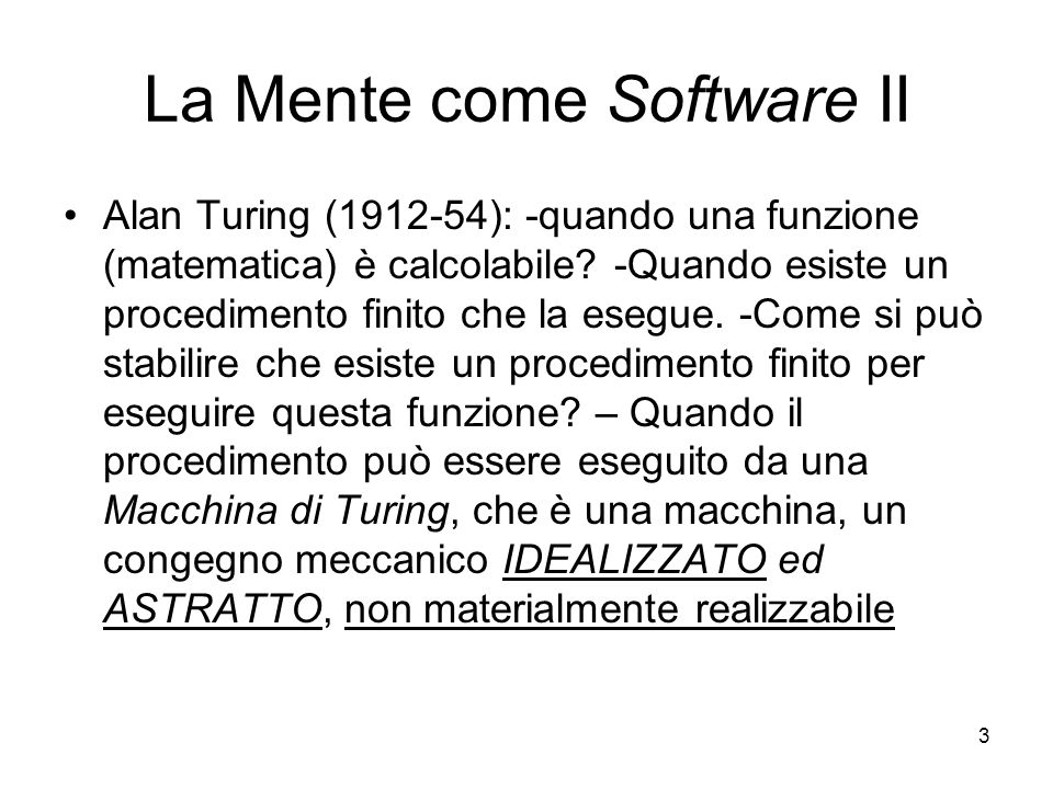 La Mente come Software II
