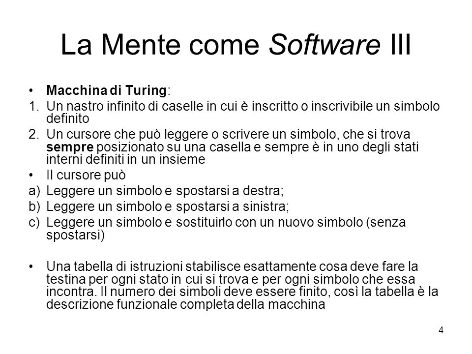 La Mente come Software III