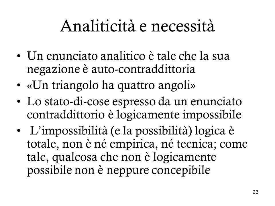 Analiticità e necessità