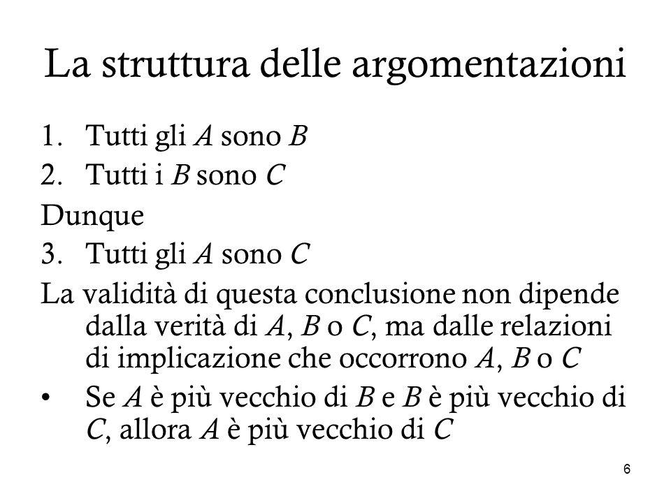 La struttura delle argomentazioni