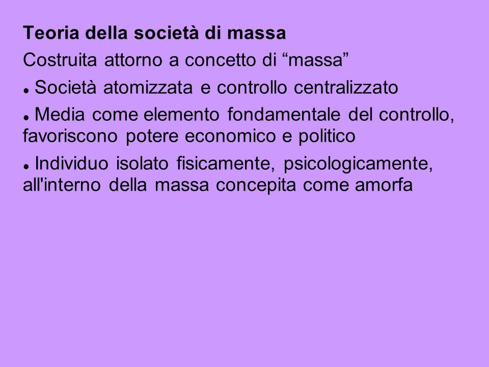 Teoria della società di massa