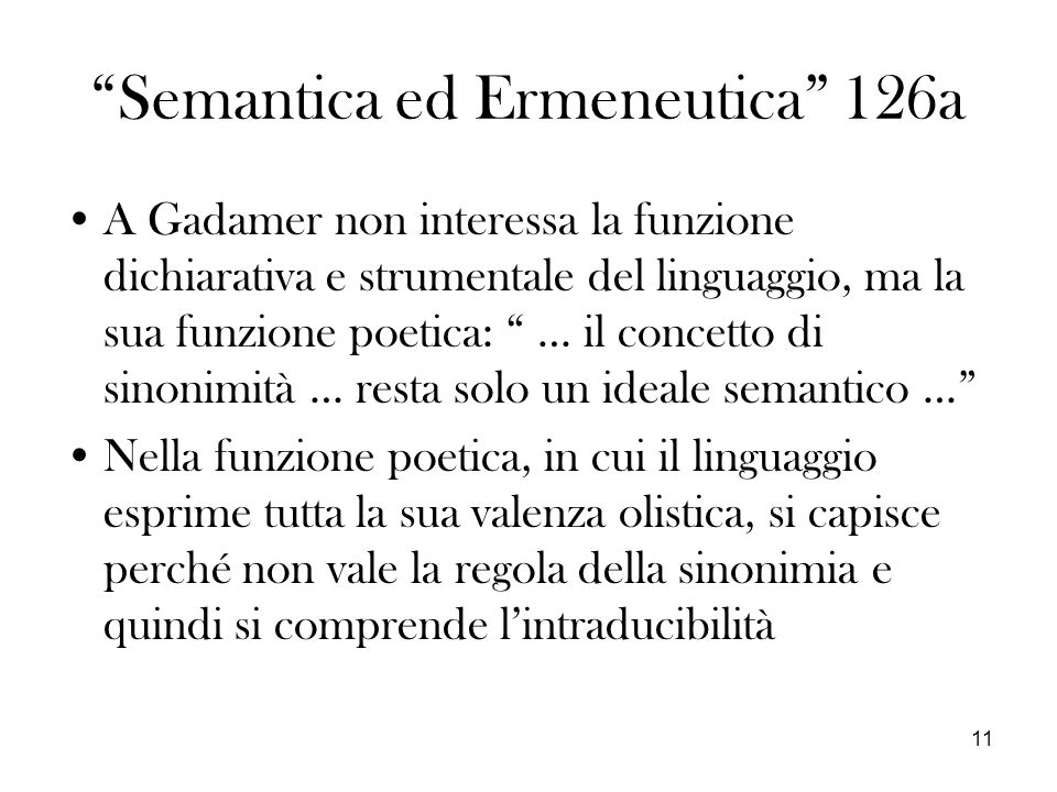 Semantica ed Ermeneutica 126a