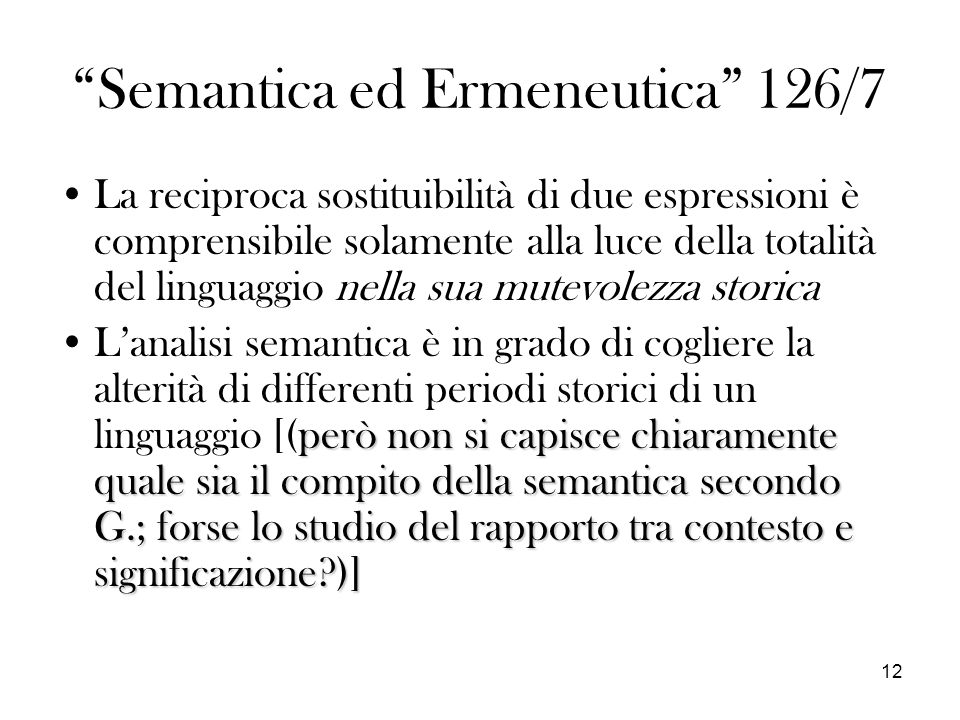 Semantica ed Ermeneutica 126/7