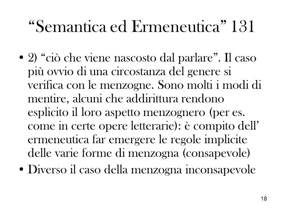 Semantica ed Ermeneutica 131