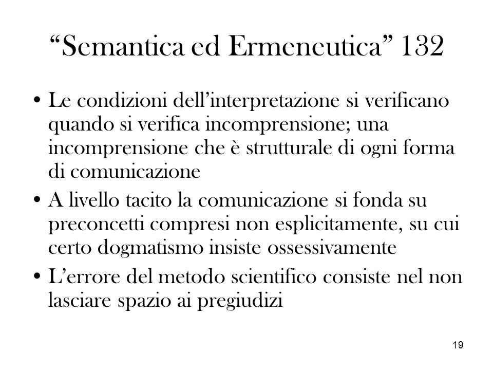 Semantica ed Ermeneutica 132