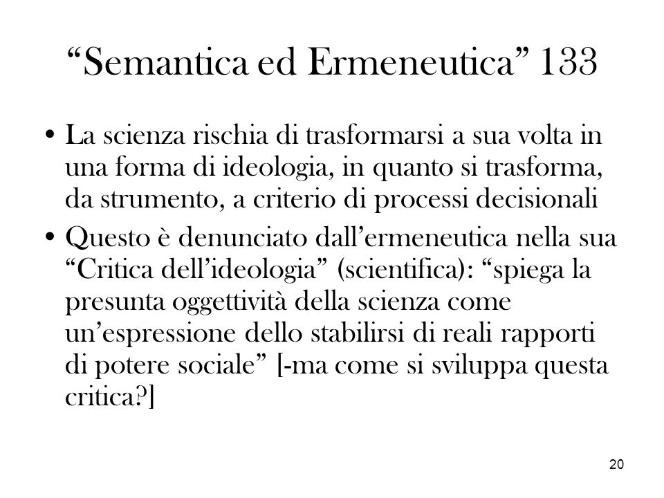 Semantica ed Ermeneutica 133