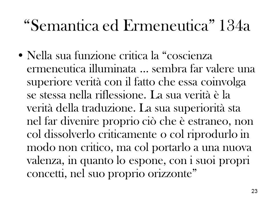 Semantica ed Ermeneutica 134a