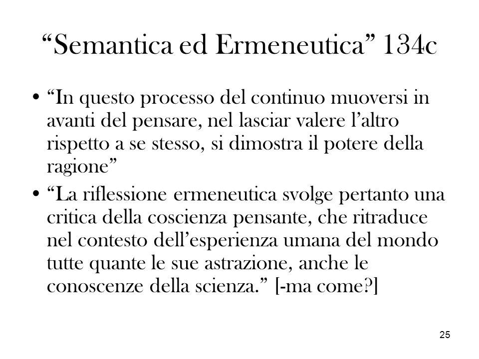 Semantica ed Ermeneutica 134c