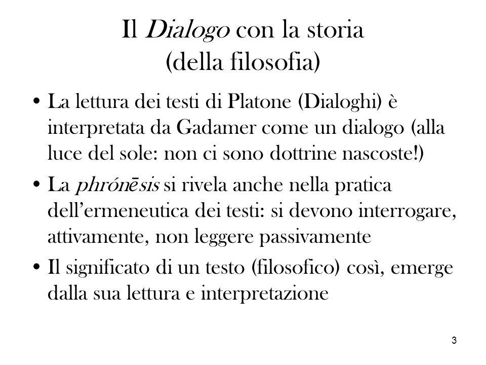 Il Dialogo con la storia (della filosofia)