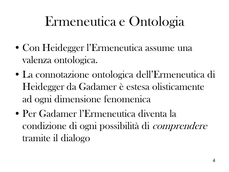 Ermeneutica e Ontologia