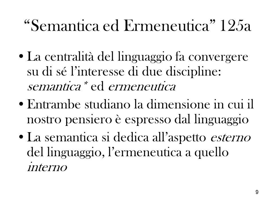 Semantica ed Ermeneutica 125a
