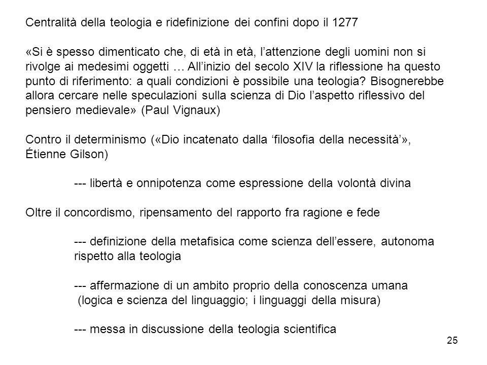 Centralità della teologia e ridefinizione dei confini dopo il 1277