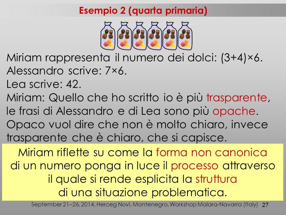 Esempio 2 (quarta primaria)