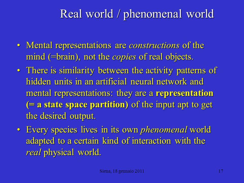 Real world / phenomenal world